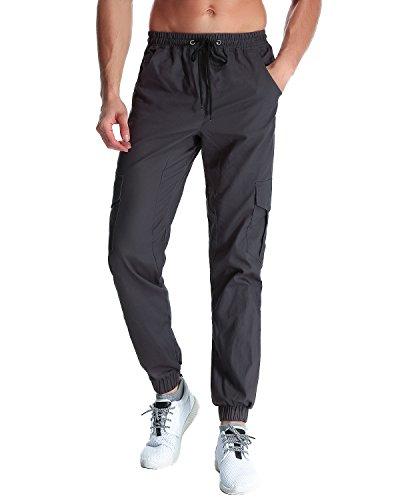 StyleDome Herren Jogginghosen Camouflage Hose Lange Cargo Chinohose Jogger Tarnung Pants (M, Dunkelgrau 4)