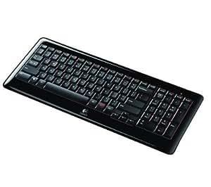 LOGITECH Clavier Wireless Keyboard K340 + Hub USB 4 ports UH-10 .