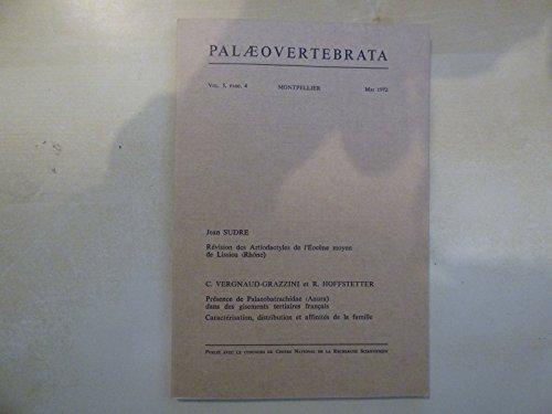 PALEONTOLOGIE: Artiodactyles Eocène moyen & Présence Palaeobatrachidae (Anura). par Sudre
