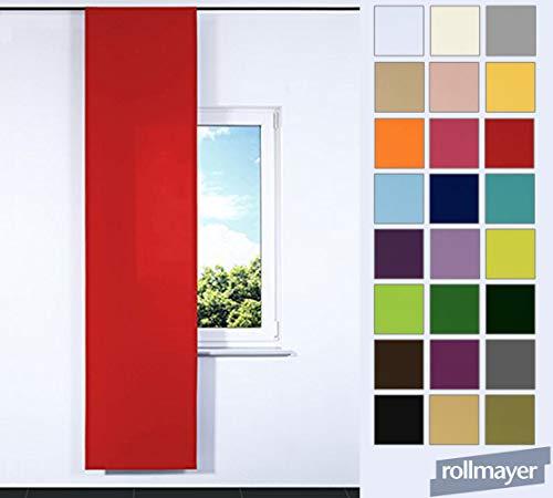 einfarbig Schiebevorhang für Flächenvorhangschiene/Schienensysteme 60 x 200 cm (Rot 12, IKEA System), Flächenvorhang Schiebepanel Schiebegardine Vorhang Raumteiler