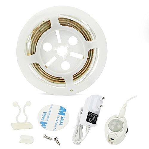 Bewegung aktiviert Bett Licht, ALED LIGHT Flexible LED Streifenlicht, Auto Ein/Aus Bewegungsmelder Nachttischlampe, Bewegung aktivierte LED-Lichtleiste (1.2M Warmweiß)