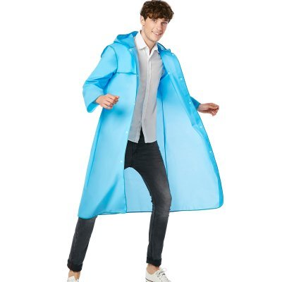 Yuany Regenmantel, Mode Regenmantel Student Regenmantel Erwachsene Regenmantel Outdoor Single Wandern Bergsteigen Tourismus Mode Flut Marke Regenmantel Männer und Frauen Langen Absatz transparent