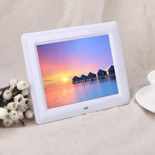 """SEXTT Digitaler Bilderrahmen 7\""""hochauflösender Touchscreen IPS LCD-Bildschirm (800 * 480 Auflösung), Unterstützung für Foto/Musik/Video, Wandmontage möglich,White"""