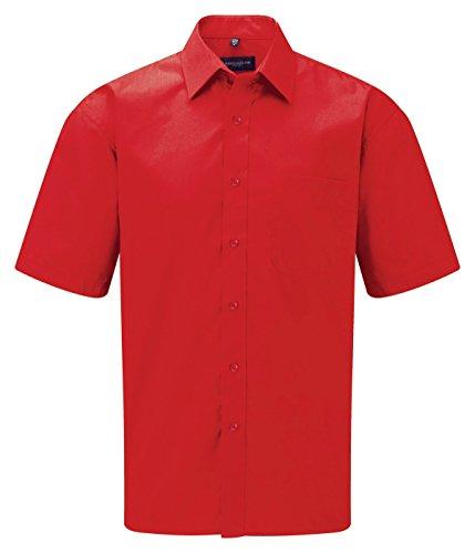 Russell Collection -  Camicia Casual  - Basic - Classico  - Maniche corte  - Uomo Rosso classico