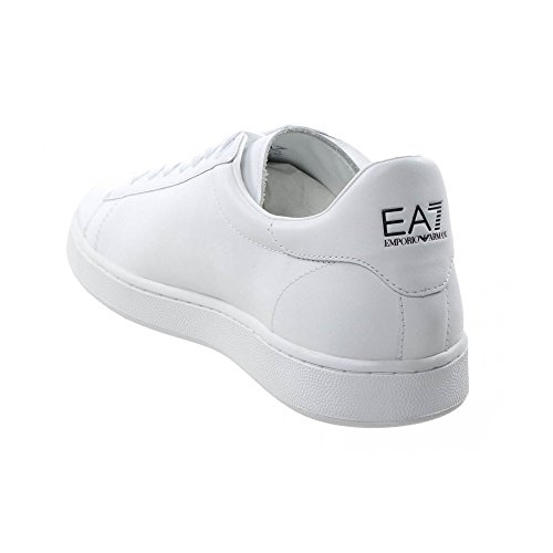 EA7 New Classic Leather Trainers Blanc