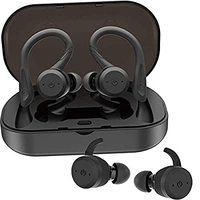 Waterproof IPX7 Wireless Bluetooth Headphones,Bluetooth Headset Mini In-ear Earphones Noise Cancelling Earbuds, Built-in Mic,Built-in Charger Box And Supports All Bluetooth Devices