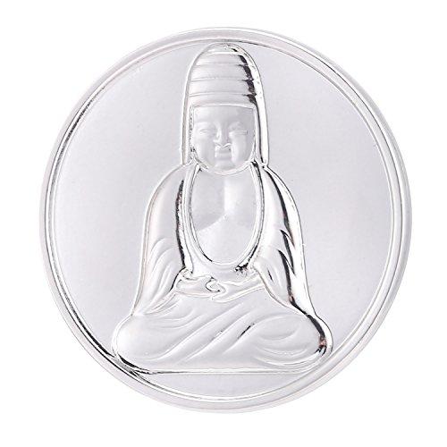 Morella® Damen Coin Buddha silber 33 mm -