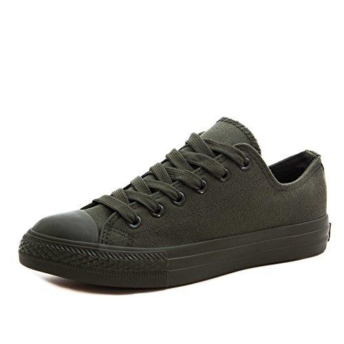 Klassische Unisex Damen Herren Schuhe Low High Top Sneaker Turnschuhe Dk. Grün 41 (Grün Taylor Chuck)