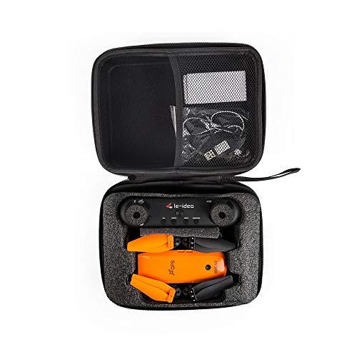le-idea RC Drohne Handtasche Tragetasche Organizer Drone Bag Schwarz Tragbar IDEA7 RC Drohne, inklusive IDEA7 Batterie, USB-Ladegerät,900 mAh Kapazität und 7.4V, IDEA7 Batterie Zubehör Hard Shell Box