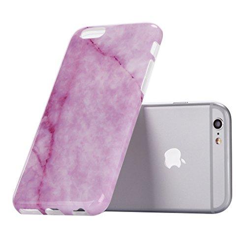 """iPhone 6 6S Coque , YIGA Motif Marbre Naturel Noir Premium Souple Silicone TPU case Etui Protection Housse pour Apple iPhone 6 6S 4.7"""" A-7G-KM9"""