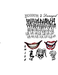 Temporary Tattoo Set: The Joker from Suicide Squad by Fancy Pants Store