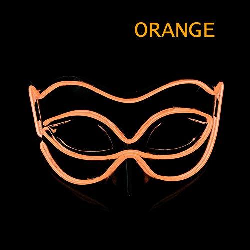 Glowing Fox Maske, Maskerade Halloween Maske Led Licht Party Maske Partei Venedig Karneval Party Cosplay Kleidung Liefert,Orange,VoiceControl