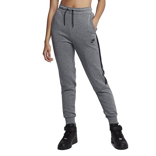 Nike Damen W Nsw Tech Fleece Og Trainingshose, Karbon Heidekraut Grau/Schwarz, S