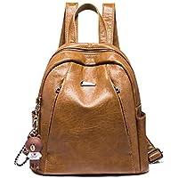676c62ed1909c Yslin Rucksack Damen Vintage Schultasche PU Leder Anti-Diebstahl Backpack  Große Fashion Moderner Winter Einfach
