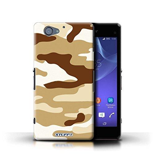 Kobalt® Imprimé Etui / Coque pour Sony Xperia A2 / Marron 4 conception / Série Armée/Camouflage Marron 2