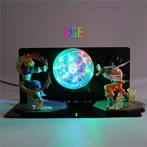 Dragon Ball Z Son Goku Lámpara de mesa Iluminación decorativa Anime DIY Lámpara Figura de acción Lámpara de mesa Niños Niños Juguete ligero LED, RGB
