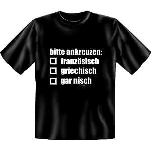 Fun-Shirts - T-Shirt Bitte Ankreuzen: Französisch (in L)
