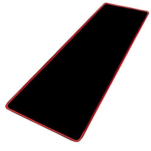 GIM Gaming Mauspad Extended Großes Mausmatte 78 x 30 x 0.3 CM Wasserdicht Schreibtischunterlage Tastatur und Maus Mat für Büro und Gamer - Mouse Pad Schwarz