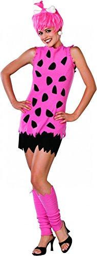 The Flinstones Die Feuersteins Pebbles Feuerstein pink pinkes Kostüm für Damen Mädchen Damenkostüm mit Perücke Gr. M, S, XS, Größe:S