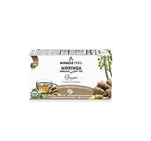 Miracle Tree Organic Moringa Tea, Ginger