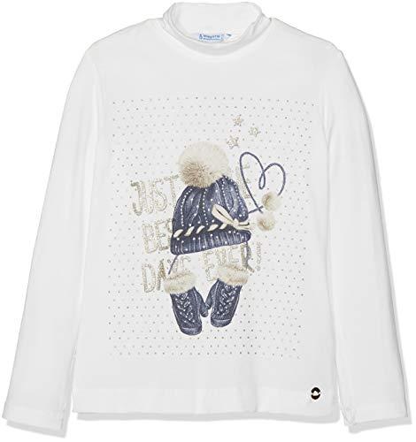 Mayoral 4002, Camiseta de manga larga para Niñas, Blanco (Gorro Mari 90), 3 años (Tamaño del fabricante:3)