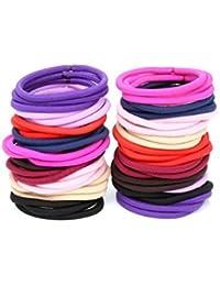 Chronex 26 Pcs Multicolour Ponytail Holders Hair Bands For Girls/Women - Pack Of 26