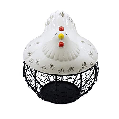 Eierkorb aus Keramik, Hühnchenform, dekorativ, für die Küche, Aufbewahrungskörbe