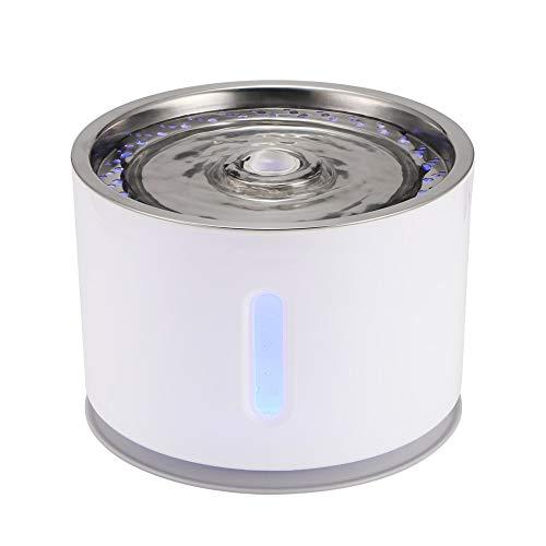 he Katze Brunnen LED Elektrische Mute Wasserspender USB Hund Pet Drinker Schüssel Pet Drink Dispenser Für Katze Hund (Couleur : 2) ()