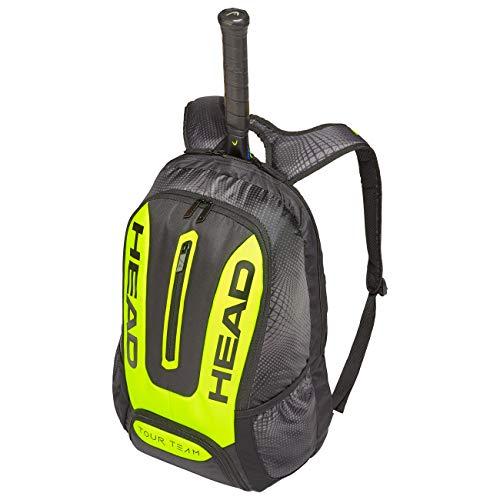 HEAD Unisex- Erwachsene Tour Team Extreme Backpack Tennistasche, Black/neon Yellow, Einheitsgröße