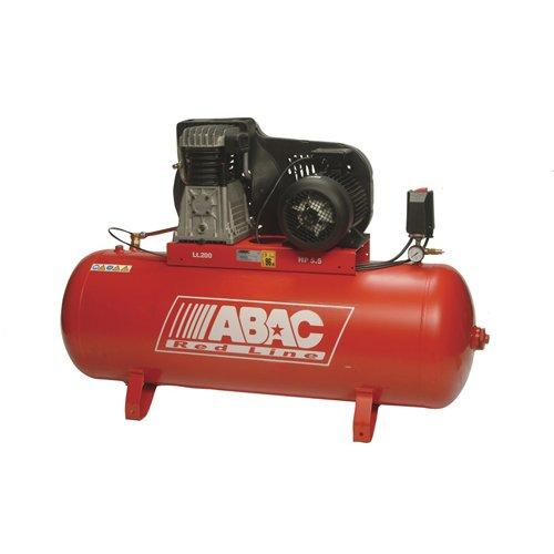 AES T.6502 ABAC Compresor de aire accionado por correa, receptor de 200 L, capacidad de 22 cfm