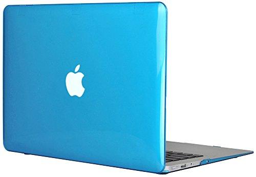 Generic Clear Kristall Tasche Case für Apple MacBook Air 13 13.3 Zoll Model Schutzhülle Etui (ohne Apple Ausschnitt logo) Model A1369 and A1466-Baby Blau (2010 Pro Macbook 13-zoll-fall)