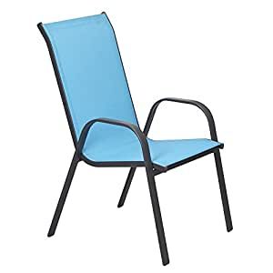 Tino Fauteuil de jardin en textilène bleu Bleu - Alinea x55.0x71.0x96.