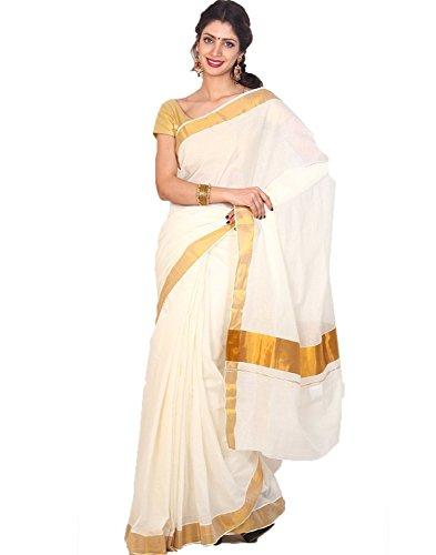 Atex Cotton Zari Saree (5102 _Ivory)