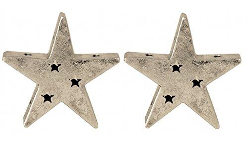 2 er Set Sterne aus Metall mit Sternenlöchern Dekoration für Haus und Garten Stern Metallstern (Metall-sterne-haus)