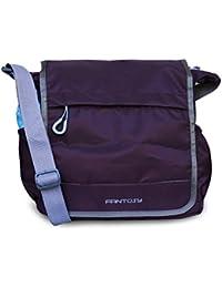 Fantosy Men Violet Polyester Sidebag