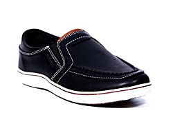Provogue Mens Black Canvas Sneakers (PV6013) - 8 UK