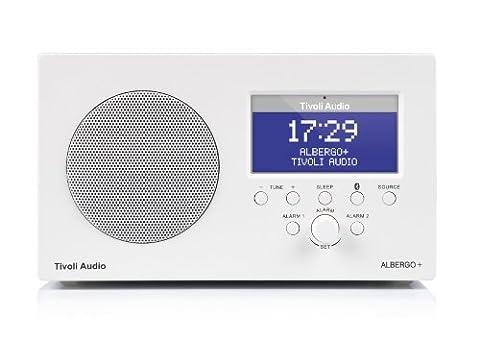 Tivoli Audio Albergo+ Radio-réveil avec Bluetooth DAB/DAB+/FM Blanc