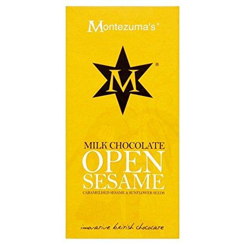 (Montezumas Open Sesame Milchschokolade mit karamelisierten Seeds 100g)
