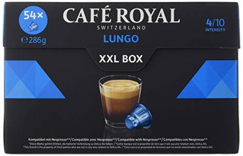 Café Royal Lungo XXL Box 162 cápsulas compatibles con Nespresso* Intensidad: 4 de 10 (Pack de 3 x 54 cápsulas)