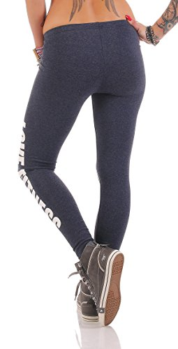 AE - Legging - Femme Noir Noir bleu jeans