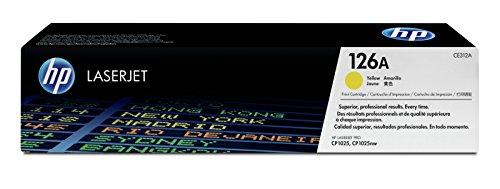HP 126A (CE312A) Gelb Original Toner für HP Color Laserjet Pro CP1025, M175, TopShot Laserjet Pro M275