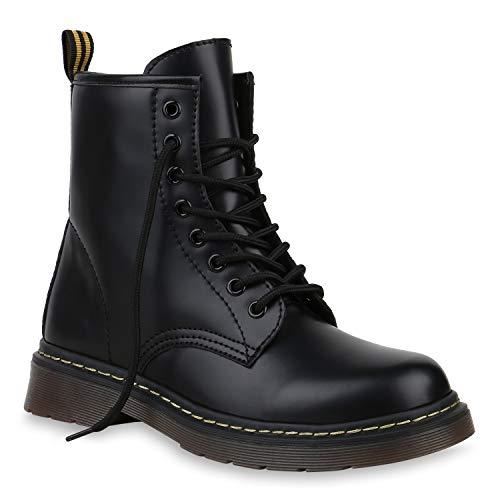 (Coole Worker Boots Kinder Outdoor Stiefeletten Profil Sohle 172610 Schwarz Total 40 Flandell)