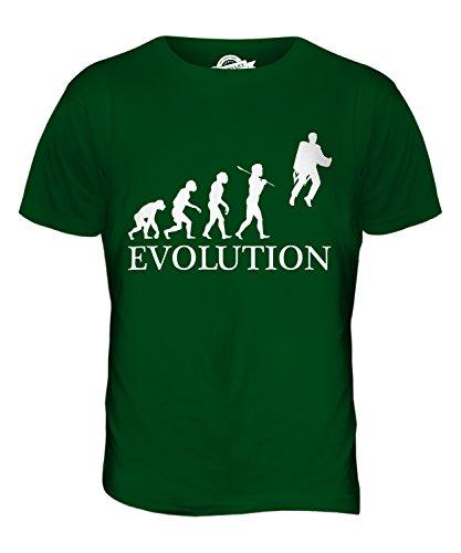 CandyMix Raketenrucksack Jetpack Evolution Des Menschen Herren T Shirt Flaschengrün