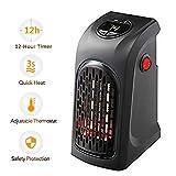 Handliche Heizung, Plug-in intelligente Raumheizung Mini Heizung Thermostat elektrische Heizung mit Timer Heizlüfter (Schwarz)