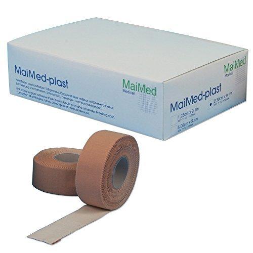 MaiMed plast Rollenpflaster Heftpflaster und Fixierpflaster hautfarben Spenderbox 2,50 cm x 9,1 m