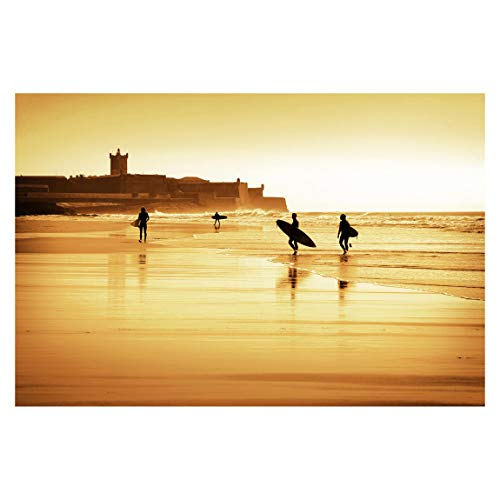 Fototapete selbstklebend - Surfer Beach - Wandbild Querformat 225 x 336 cm -