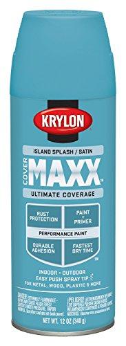krylon-k09166000-covermaxx-spray-paint-satin-island-splash-by-krylon