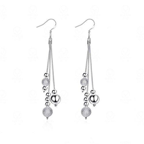 z-p-women-grils-silver-plated-scrub-round-pearl-pendant-tassel-earrings