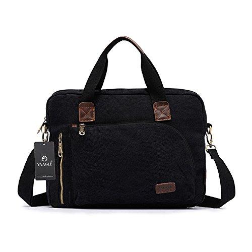 YAAGLE Qualitätsartikel Herren schick Business Taschen Freizeit Kuriertasche Umhängetasche Schultertasche Handtasche Aktentasche Reisetasche-khaki schwarz