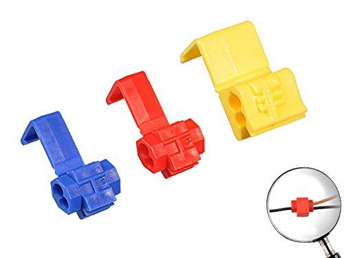 Preisvergleich Produktbild 60 teiliges Sortiment Abzweigverbinder 35x Blau,  20x Rot,  5x Gelb lötfreie Kabelverbindung